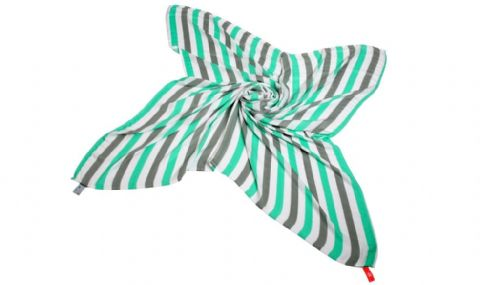 Great Swandoodle - Cuski Mint/Grey Stripes